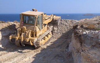 Construction of a new hotel in Milos