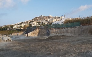 Construction of a new complex of residencies in Santorini